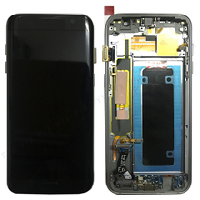 "Pantalla Super AMOLED para Samsung Galaxy S7 Edge, 5,5 "", S7 Edge, G935, G935F, SM G935F, montaje de digitalizador táctil con marco"