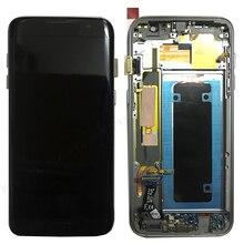 """עבור סמסונג גלקסי S7 קצה מסך סופר AMOLED 5.5 """"S7 קצה G935 G935F SM G935F LCD תצוגת מגע Digitizer עצרת עם מסגרת"""