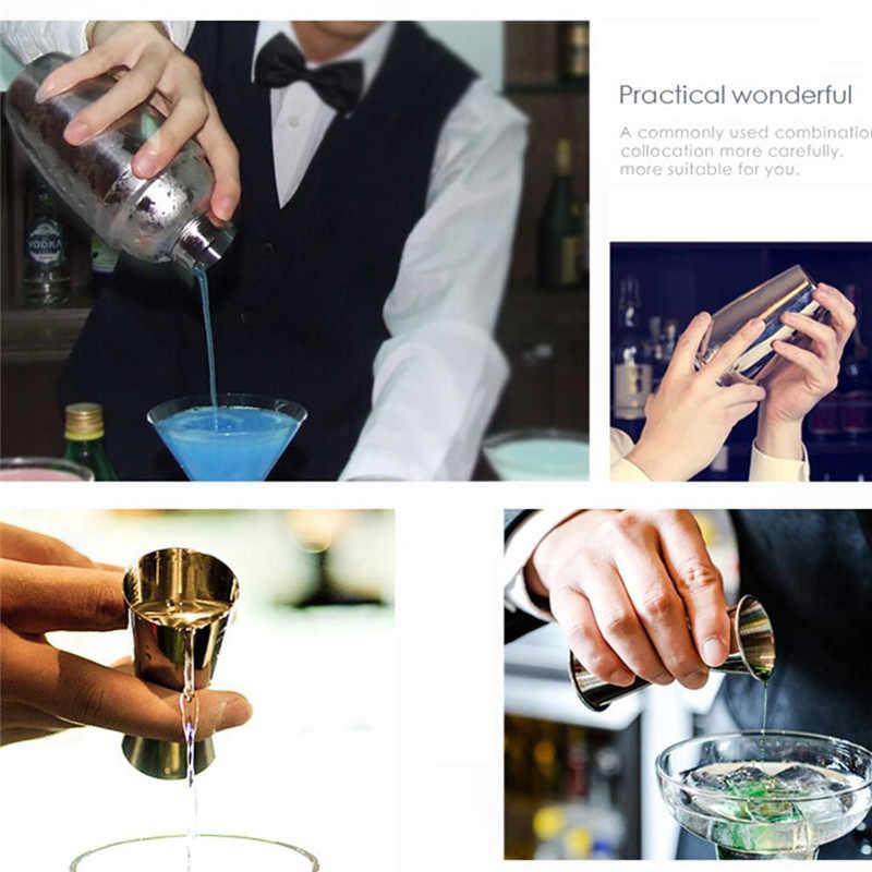 12 pçs/set aço inoxidável licor cocktail shaker rack de madeira barra misturador vinho conjunto bartender cocktail mão shaker barra ferramenta