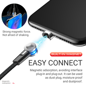 Image 2 - hoco magnetic usb cable for Type C rotatable magnet charger fast charging right angled for Samsung Xiaomi Huawei nylon usb c