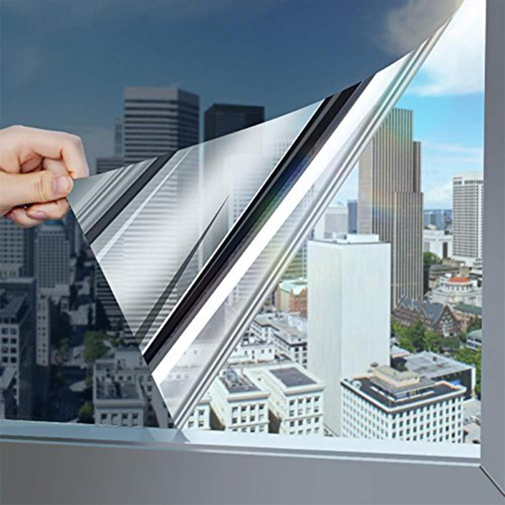 Window Privacy Film Sun Blocking Mirror Reflective Tint One Way, Heat Control Vinyl Anti UV Window Stickers for Home and Office 4