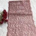 Кружевная эластичная лента из спандекса E2801, темно-розовая, 19,5 см
