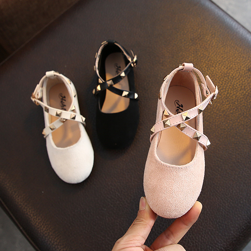 2020 Spring New Girl's Shoes Suede Gladiator Baby Girl Shoes Rivet Princess Sandals Soft Sole Little Girl Shoes Toddler D01092