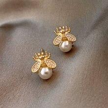 Новые милые маленькие серьги в виде пчел для женщин Роскошные