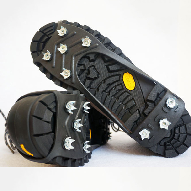 1Pair M L 8 Studs Anti-Skid Snow Ice Crampon Climbing  Shoe Spikes Grips Crampons Cleats Overshoes Crampons Spike Shoes Crampon