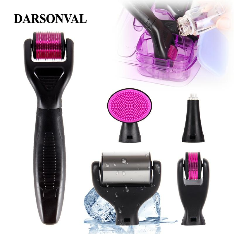 DARSONVAL DRS 6 In 1 Micro Needles Derma Roller Titanium Mezoroller Microneedle Machine For Skin Care And Body Treatment