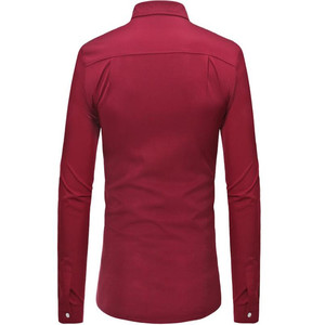 Image 2 - Plus size mens long sleeve shirt with lapel collar in autumn 2019