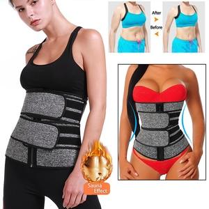 Image 2 - Steel Boned Waist Corset Trainer Slimming Belt Sauna Sweat Sport Girdles Modeladora Women Shaper Burning Fat Workout Trimmer