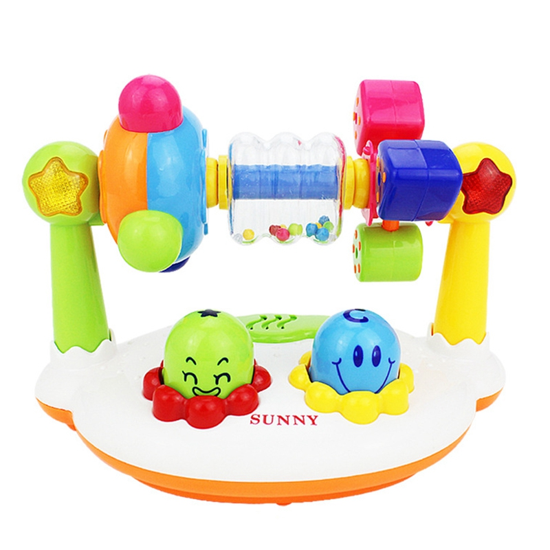 FBIL-Musical Baby Toys Music Rotating Lighting Fitness Frame Baby Educational Toys With Box Gift Preschool Toys