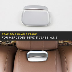 Tylne siedzenie samochodu uchwyt ramy pokrywa naklejki wykończeniowe akcesoria wewnętrzne do Mercedes Benz E klasa W213 2017 2019 Auto w Naklejki samochodowe od Samochody i motocykle na