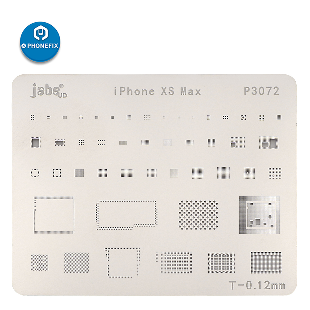 Jabe Reballing Stencil For IPhone XR XS XSMAX BGA Reballing Stencil Template PCB BGA Soldering Kit Welding Tool Kit