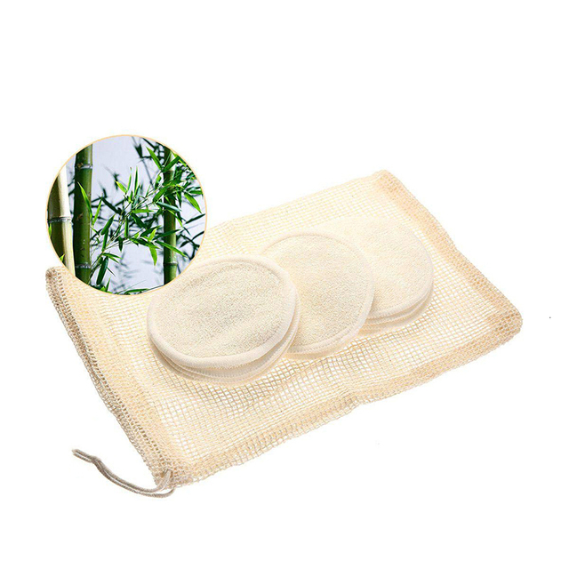 12 Packs Organic Bamboo Remover Pads Reusable With Laundry Bag, Facial Wash Wipes Washable For The Eye Face Makeup Remover Wipe 5