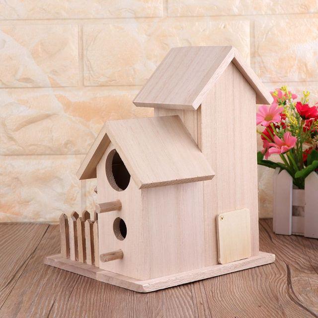 Creativo Uccello Casa Nido di Legno Allevamento Gabbia di Recinzione Scatola Nido Giardino Esterno Cortile Uccelli Pappagallo Gabbia di Decorazione Della Casa
