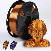 Filamento per stampante 3D PLA 1.75mm 250g/500g/1KG sensazione metallica seta lucida materiale di stampa 3D vendita speciale filamento viola/rame