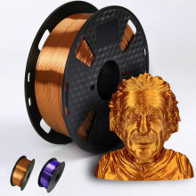 3D Printer Filament PLA 1.75mm 250g/500g/1KG Metallic Feel Shiny Silk 3D Printing Material Special sale Purple/ Copper Filament