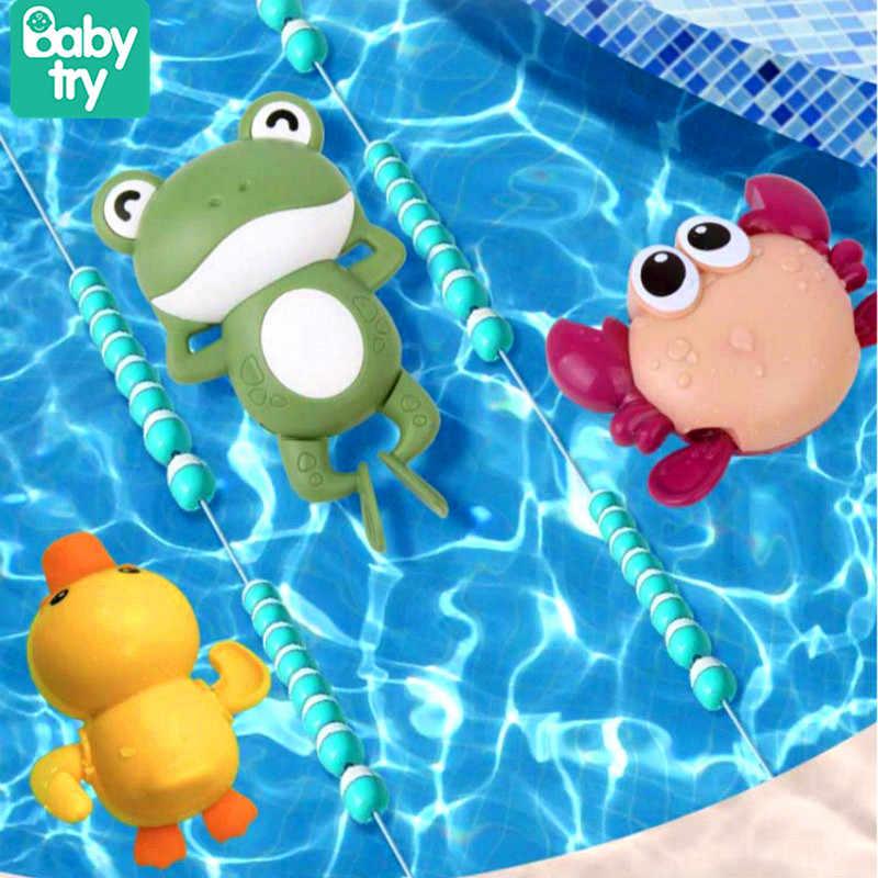 Bathroom Tub Bathing Toy Clockwork Wind UP Plastic Bath Animal Pool For Baby MO