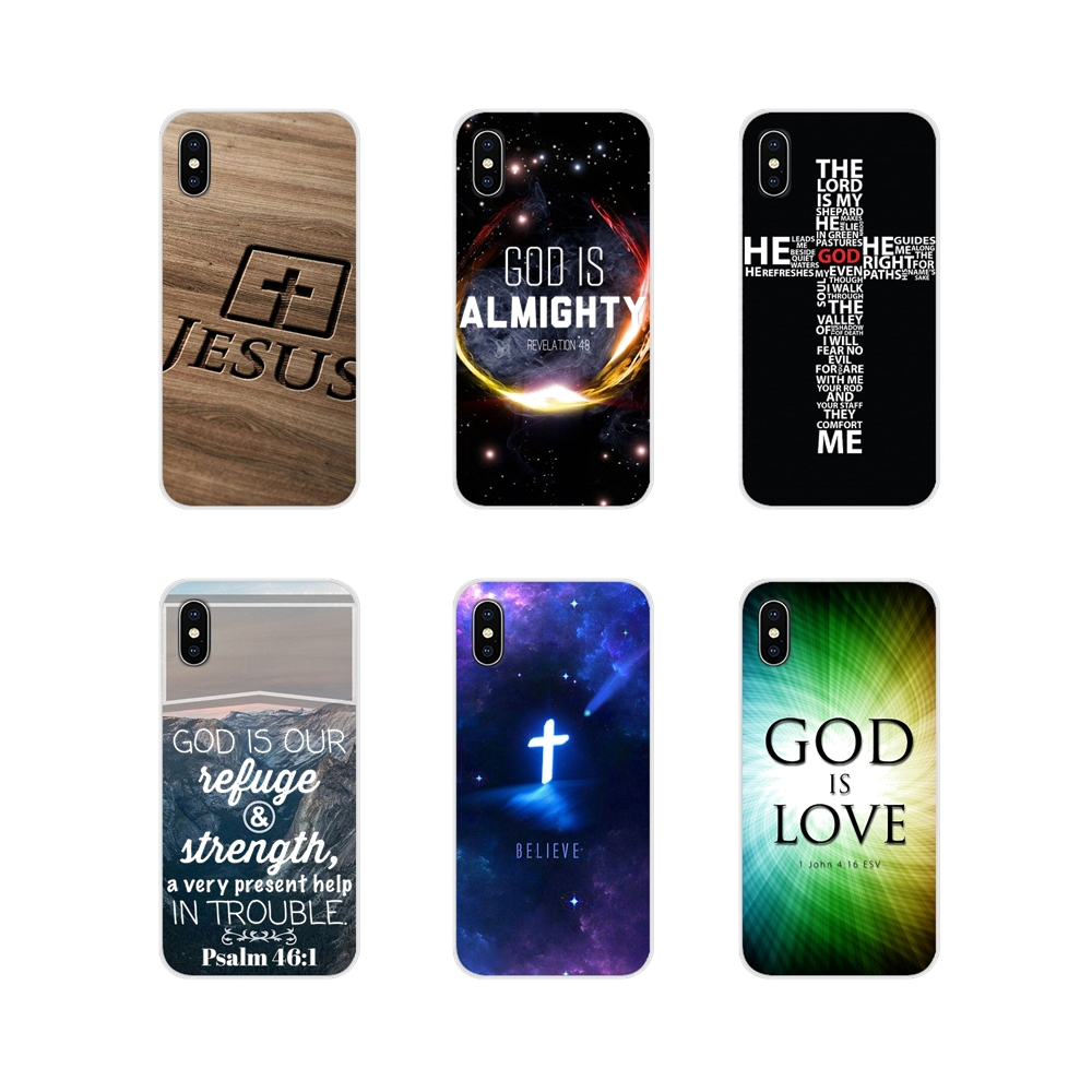 For <font><b>Samsung</b></font> Galaxy S3 S4 S5 <font><b>Mini</b></font> S6 S7 Edge S8 S9 S10 Lite Plus Note <font><b>4</b></font> 5 8 9 Phone Shell Cover Christian Jesus Bible Verse <font><b>Cases</b></font> image