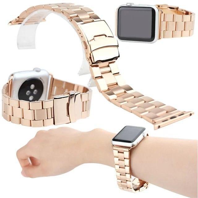 For Apple/IWatch/SAMSUNG Smart Watch Stainless Steel San Zhu All-Steel Wear-Resistant Watch Strap Watch Bracelet Universal
