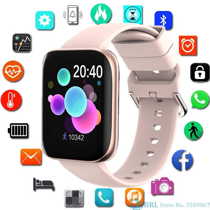 Bluetooth Call SmartWatch 3D Full Touch Screen Women Men Sports Ladies Smart Clock For Andriod Ios Fitness Tracker Smart-watch