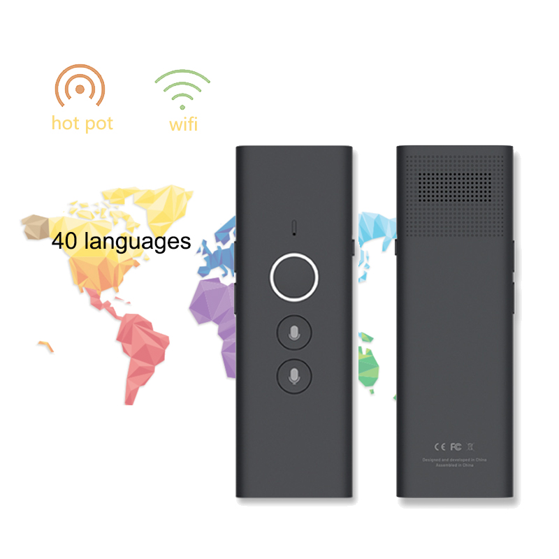 Portable T1 Translator Multi Languages Traductor Voice Translaty Personal Travel Assistant Simultaneous Interpretation Vertaler