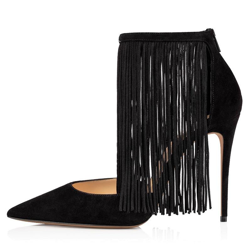 Stylish High Heel Tassel Pumps Women