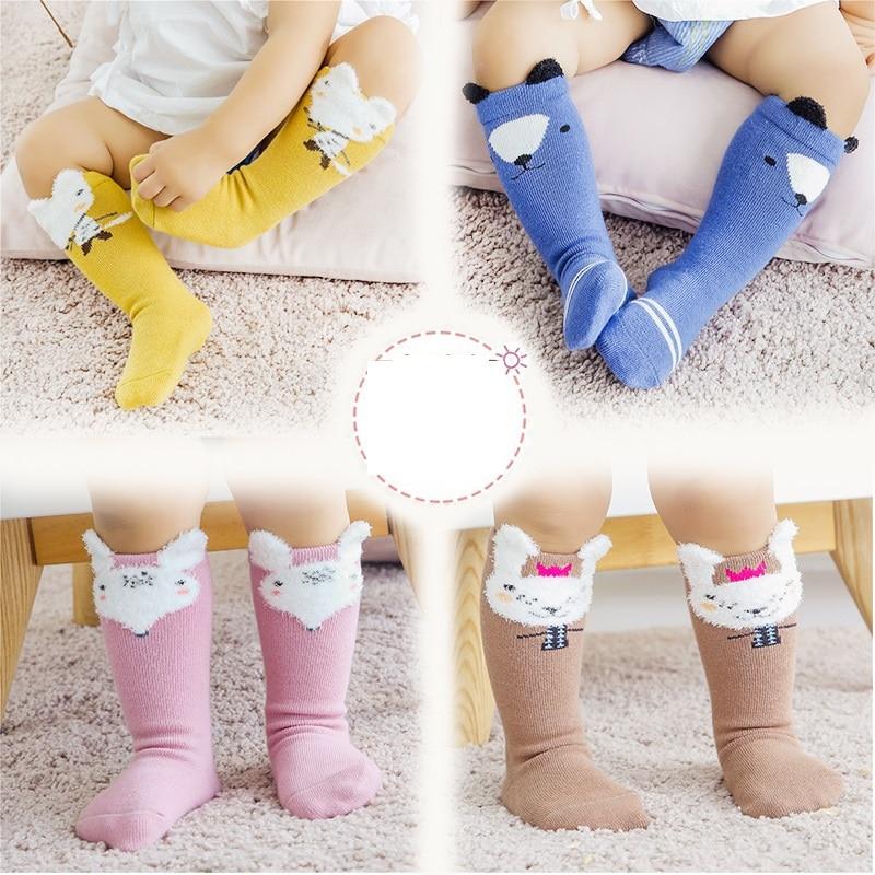 3Pair Girls Socks Toddlers Girls Knee High socks Soft Cotton socks Children Socks Cotton baby Kids Girl Socks Spring 2021 New