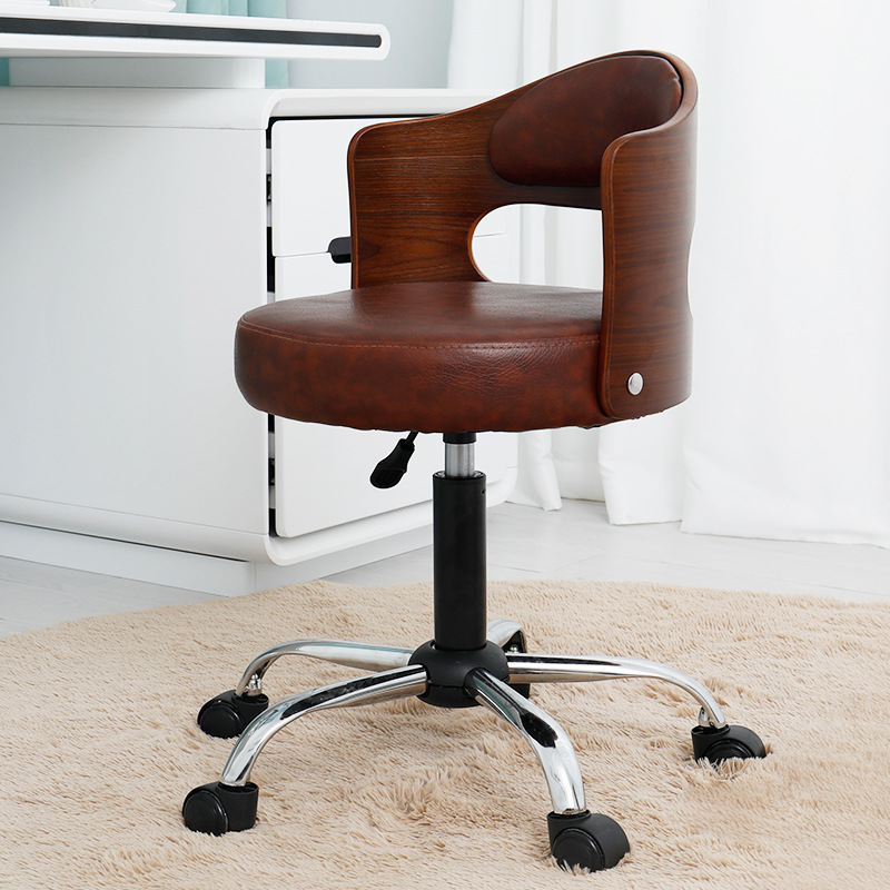 Free Shipping  Solid Wood Chair Fashion Student Computer Chair Modern Simple Library Lifting Swivel Chair Household