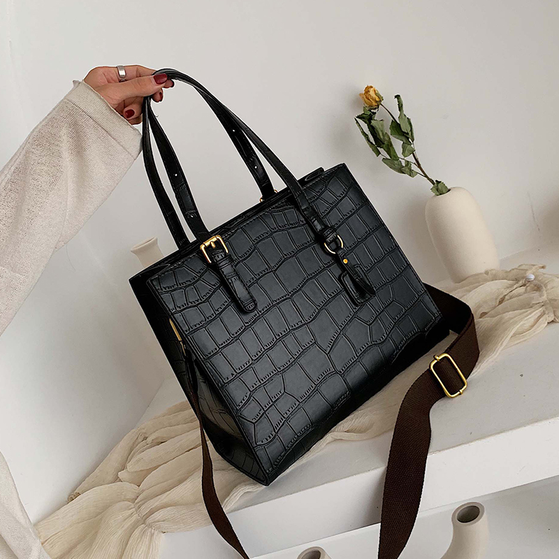 Fashion Crocodile Pattern Women Handbag Leather Ladies Hand Bags Luxury Handbags Women Bags Designer Shoulder Bag For Women 2019