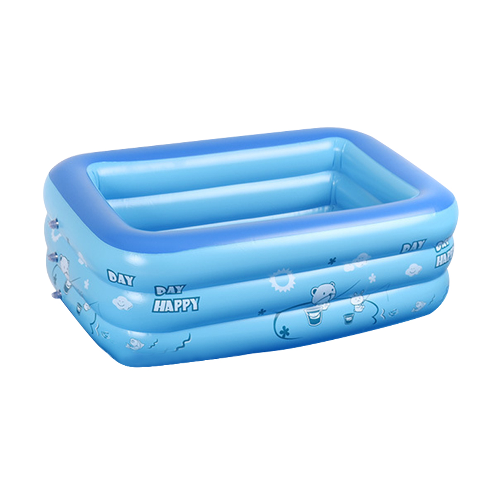 Inflatable Pool Bathing Tub Baby Adult Kids Home Outdoor Large Swimming Square Inflatable Square Swimming Pool