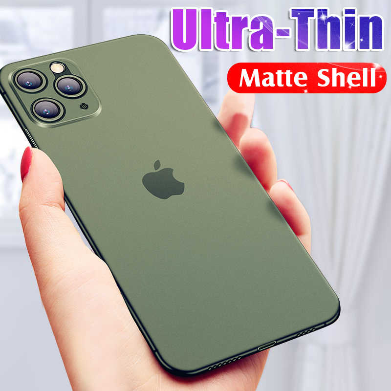 Luxe Ultra Dunne 0.26mm Zachte Originele Phone Case Cover Voor IPhone 11 Pro XR X XS Max 8 7 6 6s Plus 5S Slanke Logo Shockproof Case