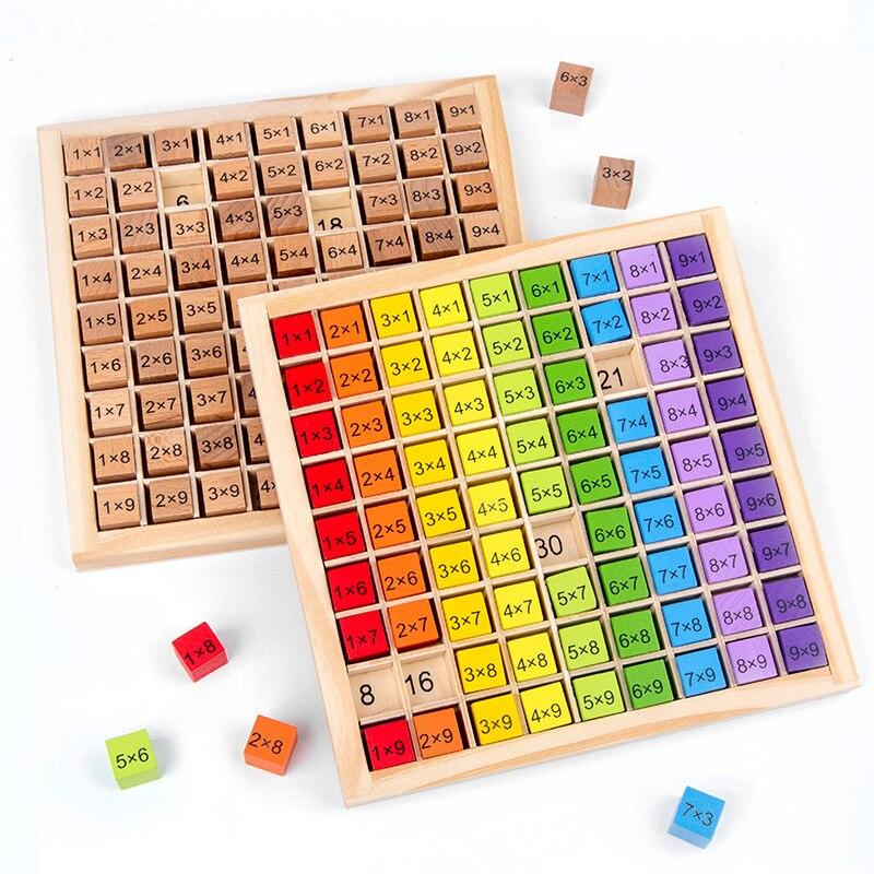 Tabuleiro de madeira com material arco-íris 99,