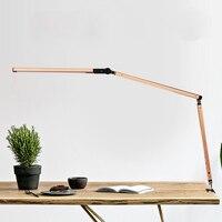 Ramię wahadłowe lampa biurkowa led z zaciskiem ściemniana lampa stołowa do nauki czytania praca biuro QJ888 w Lampy na biurko od Lampy i oświetlenie na