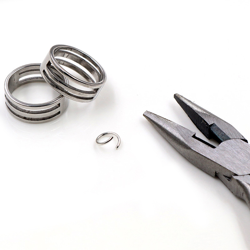2pcs Stainless Steel Jump Ring Open Closing Finger Jewelry Making Tools Fit DIY Craft Circle Bead Pliers Opening Helper Tools
