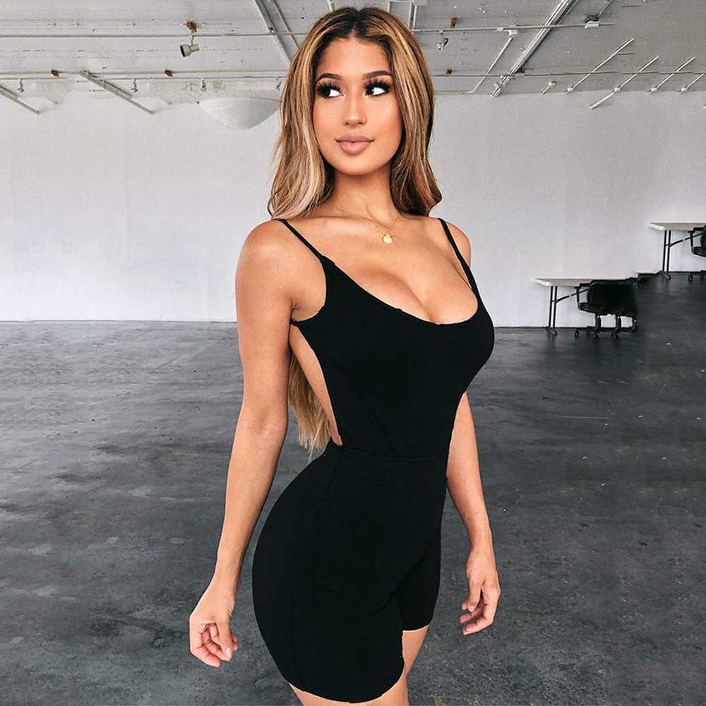Tenues Catsuit combinaison barboteuses body Shorts vêtements combishort Club femmes vêtements dos nu moulante pantalon Femme livraison directe
