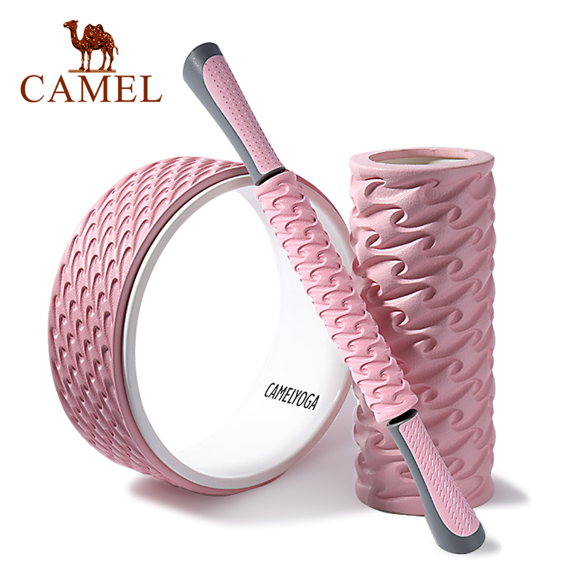 CAMEL Yoga Accessories Pilates Ring Mascle Massage Circle Relax Roller Wheel Equipment Tool Fitness Sports