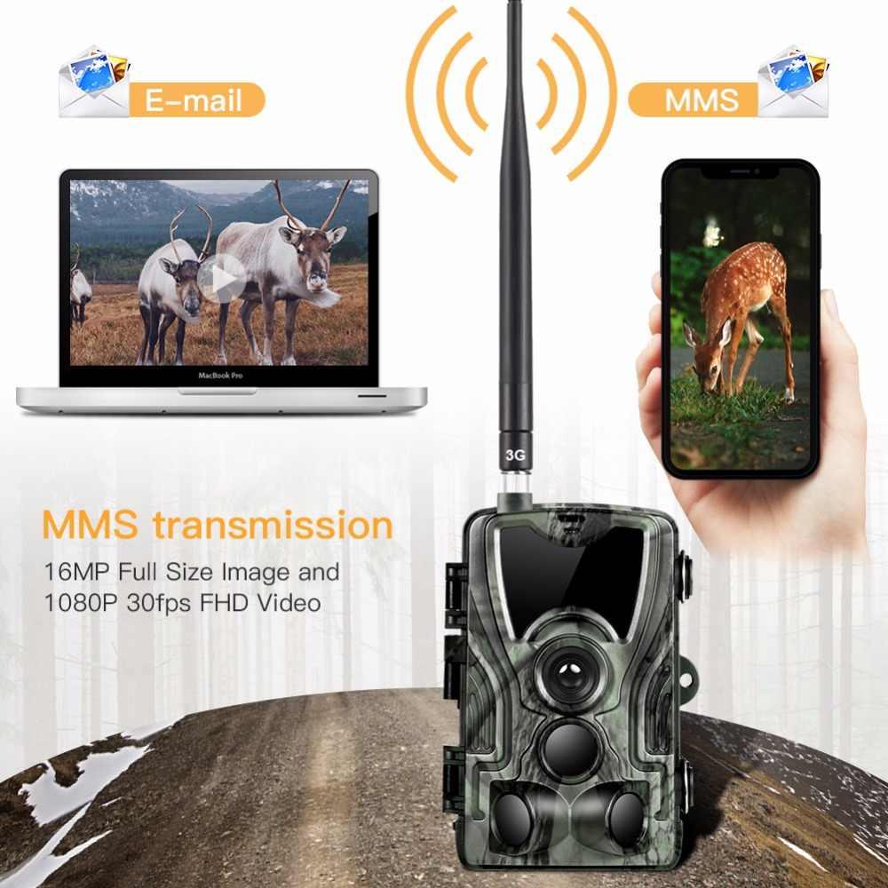 Suntek 20mp 1080p HD 2.4 Inci 3G MMS/SMTP/SMS Trail Kamera Berburu 940nm IR LED foto Perangkap Malam Visi Pramuka Hewan Kamera