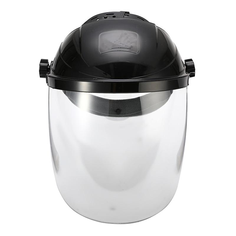 Image 3 - Anti shock Welding Helmet Face Shield Solder Mask Transparent Lens Face Eye Protect Shield Anti UV Anti shock Safety MaskMasks   -