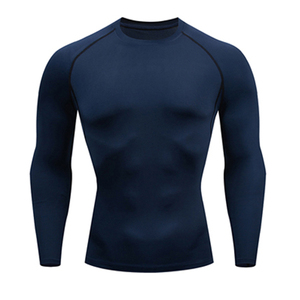 Футболка, мужские топы, быстросохнущие, для бега, тренировочный базовый слой, рубашка, термобелье, фитнес, с длинным рукавом, компрессионные ...