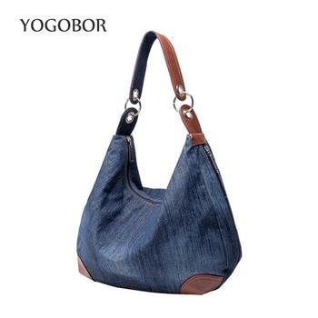 New Large Luxury Handbags Women Bag Designer Ladies Hand bags Big Purses Jean Tote Denim Shoulder Crossbody Women Hobos Bag