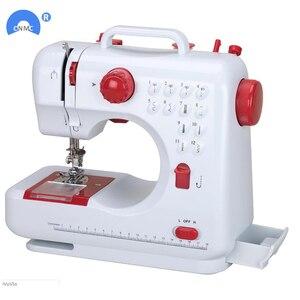 Image 3 - Новая многофункциональная швейная мини машина с двумя скоростями и двойной нитью для начинающих
