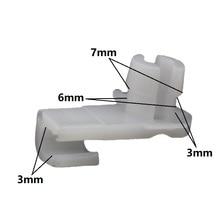 KA LI Auto Car Door Lock Rod Clip Fasteners White Nylon