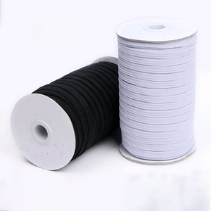 Elastic Band Masks White Black 3mm 5mm 6mm 8mm 10mm 12mm High Elastic Flat Rubber Band Waist Band Sewing Stretch Rope DIY Mask