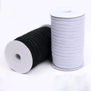 Elastic Band Masks White Black 3mm 5mm 6mm 8mm 10mm 12mm High Elastic Flat Rubber Band Waist Band Sewing Stretch Rope DIY Mask(China)