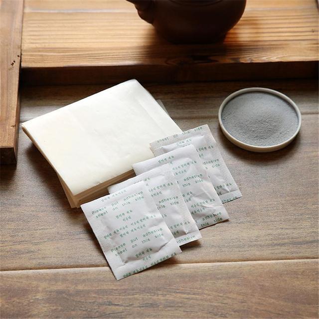 10 pièces/ensemble détox pieds tampons bambou vinaigre naturel à base de plantes toxines nettoyage adhésif patchs plâtre améliorer sommeil pieds autocollants