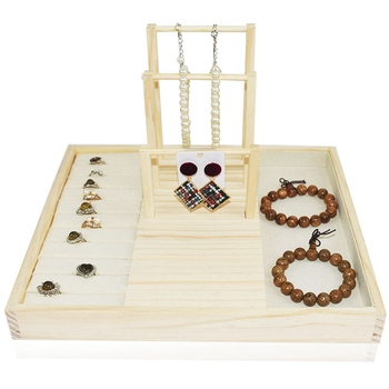 Fashion Wooden Earring Jewelry Organizer Earring Organizer Hanging Holder Necklace Display Stand Box Holder Rack Jewelry Hanger фото