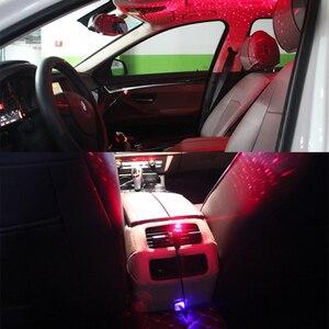 Image 5 - 周囲軽自動車のusbユニバーサルミニled車の屋根スターナイトプロジェクターライトランプ装飾装飾雰囲気ライト