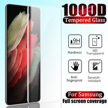 1000D экран протектор для Samsung Galaxy S21 S20 S10 S9 S8 Plus полный покрытие закаленное стекло для Samsung Note 20 Ultra 10 9 8