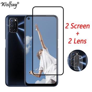 Перейти на Алиэкспресс и купить Полное покрытие, закаленное стекло для Oppo A52, Защита экрана для Oppo A52, стекло для камеры Oppo A52 A 52, стекло 6,5 дюйма