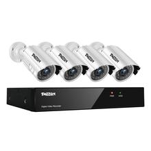 Tmezon 4CH AHD DVR 4pcs 2.0MP 1080P Camera Security Surveillance CCTV System Outdoor Waterproof IR Night Vision 1TB 2TB HD Kit цена 2017