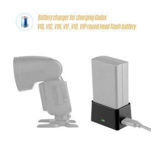 Image 3 - Godox Fotografia VC26 USB Battery Charger DC 5V Ingresso Uscita 8.4V DC per la Ricarica Godox V1S V1C V1N /F Testa Rotonda Della Batteria del Flash